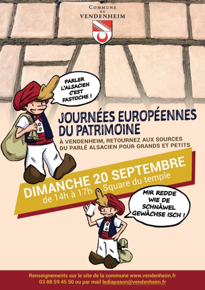 Journées du patrimoine 2020 - Parler l'Alsacien? Oui je le veux! «rede wie de Schnàwel gewàchse esch...»