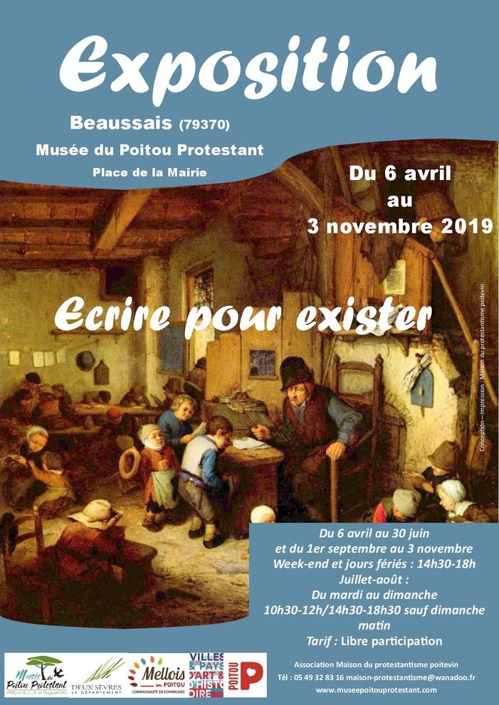 Journées du patrimoine 2019 - Exposition : « Écrire pour exister »