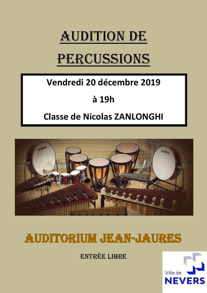 Audition de Percussions