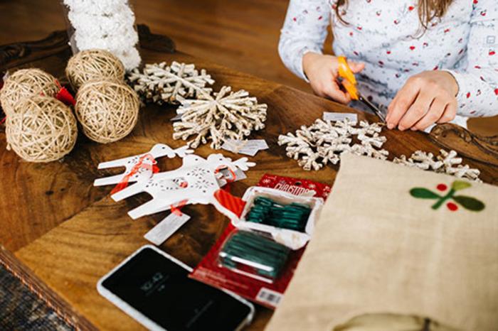 Revalorisation du textile et décorations de Noël avec Sew & Laine