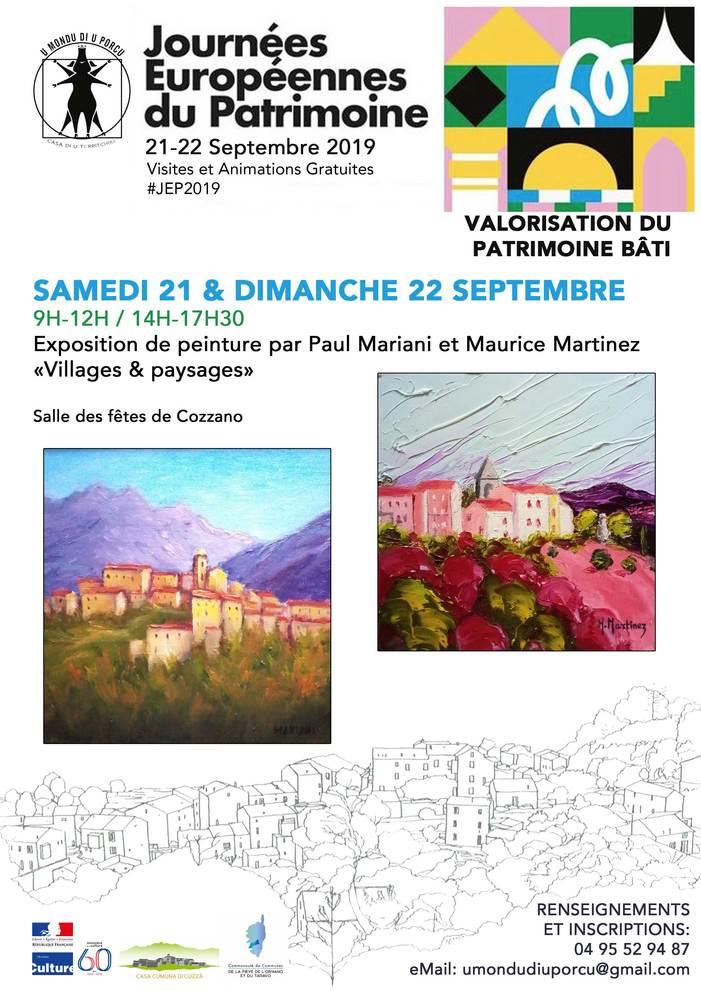 Journées du patrimoine 2019 - Villages & paysages - exposition de peinture