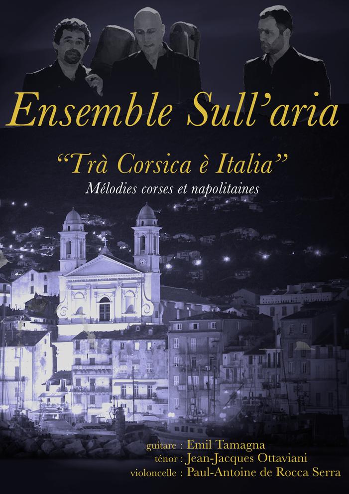 Journées du patrimoine 2019 - Récital de musique corse et italienne avec l'ensemble Sull'Aria