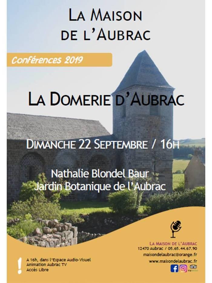 Journées du patrimoine 2019 - Conférence sur la Domerie d'Aubrac
