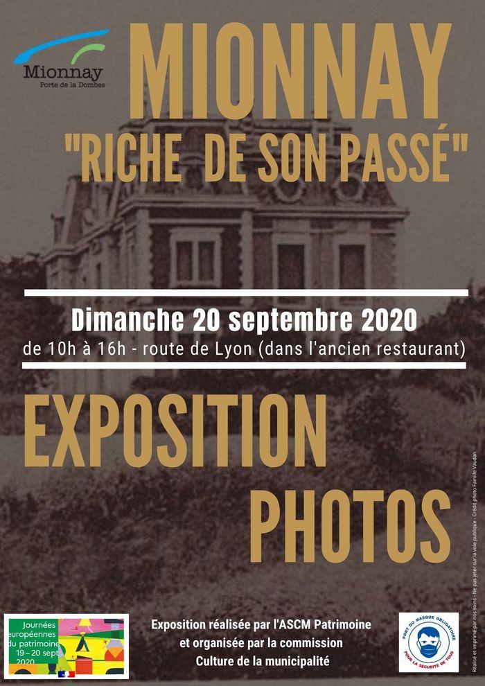 Journées du patrimoine 2020 - Mionnay, riche de son passé