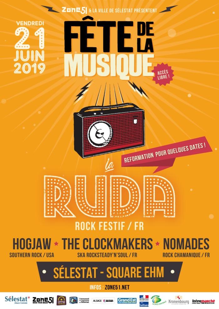 Fête de la musique 2019 - Nomades / The Clockmakers / Hogjaw / La Ruda