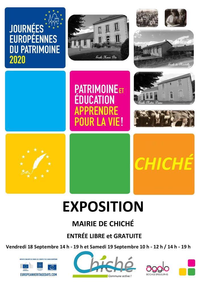 Journées du patrimoine 2020 - Exposition : l'histoire des écoles de Chiché