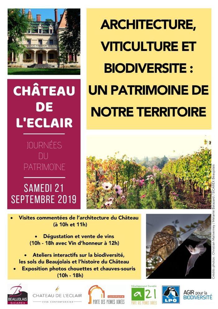 Journées du patrimoine 2019 - Architecture, viticulture et biodiversité : un patrimoine de  notre territoire