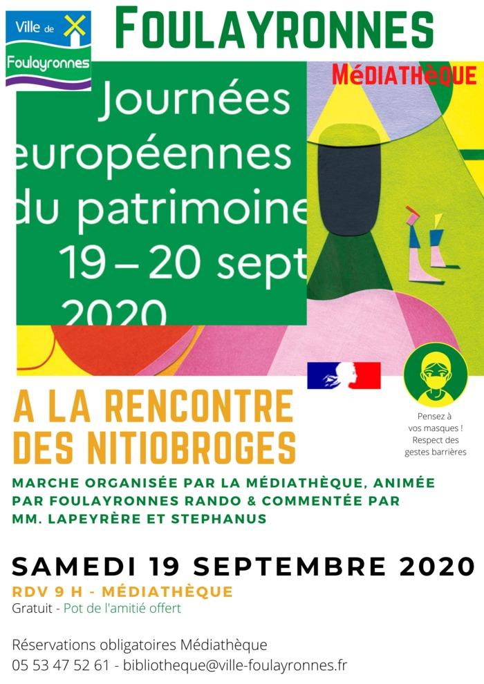 Journées du patrimoine 2020 - À la rencontre des Nitiobroges - Marche ludique sur la commune de Foulayronnes
