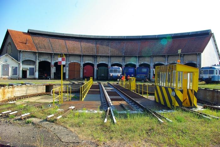 Journées du patrimoine 2020 - Visite de l'ancien dépôt SNCF de Montluçon, inscrit à l'ISMH, et des matériels ferroviaires anciens qui y sont restaurés.