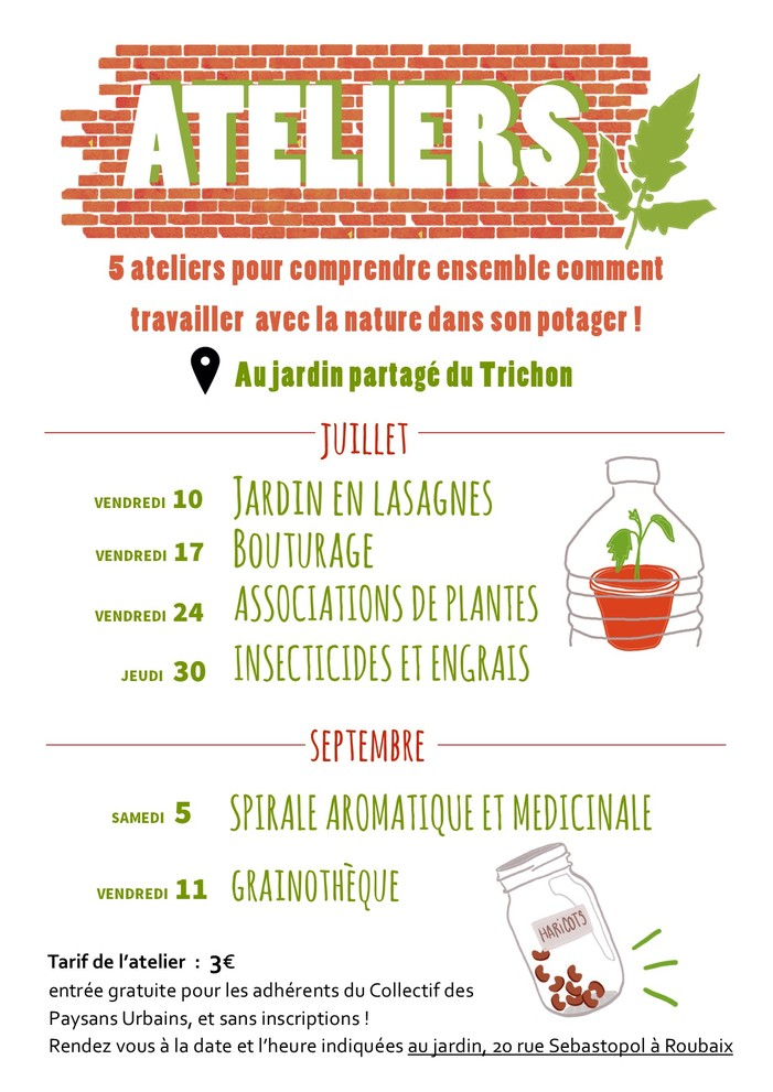 Ateliers de jardinage écologique