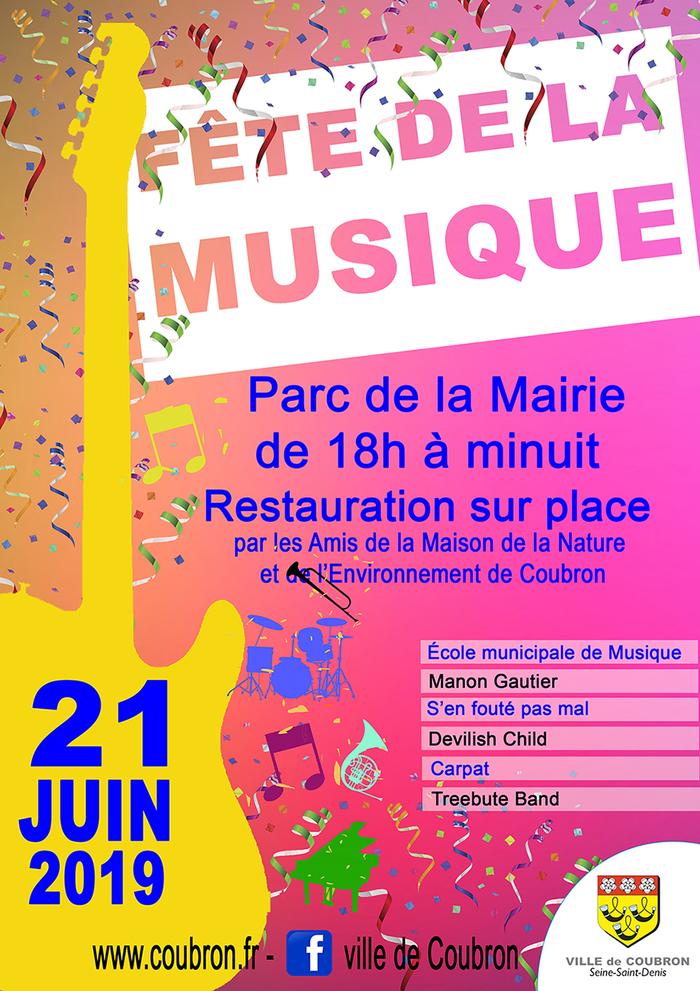 Fête de la musique 2019 - École de Musique / Manon Gautier / S'en fouté pas mal / Devilish Child / Carpat / Treebute Band