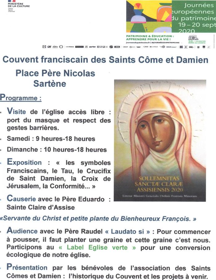 Journées du patrimoine 2020 - Visite de l'église patronale des Saints Côme et Damien à Sartène