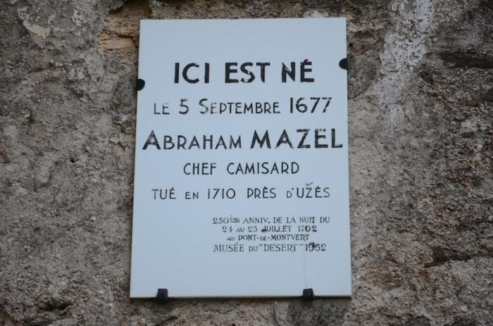 Journées du patrimoine 2019 - Visite guidée de la maison du chef camisard Abraham Mazel