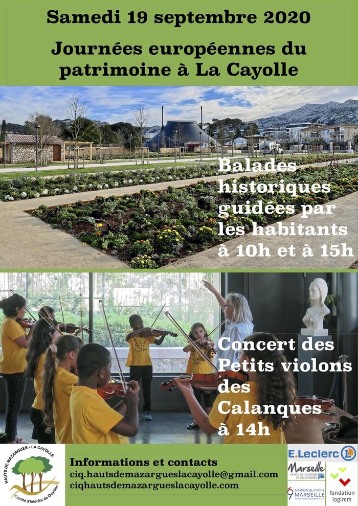 Journées du patrimoine 2020 - Annulé   Concert des Petits Violons des Calanques musique du monde