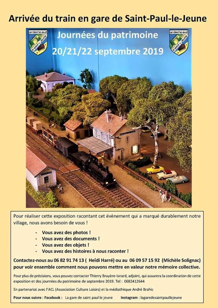 Journées du patrimoine 2019 - Mise en valeur  du patrimoine  ferroviaire  de la commune