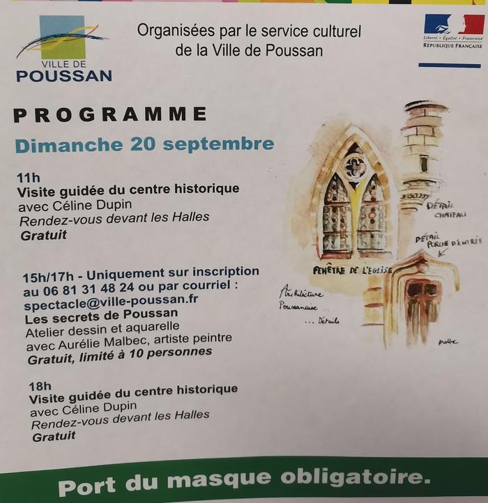 Journées du patrimoine 2020 - Visite guidée du centre historique