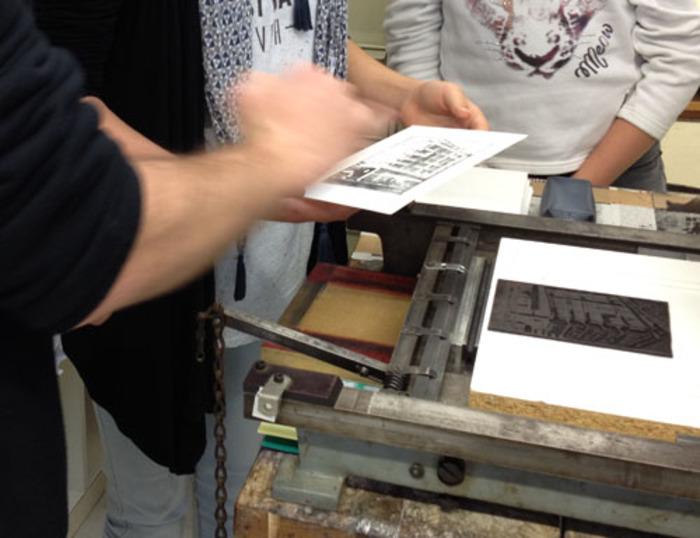 Journées du patrimoine 2019 - Atelier d'impression de linogravures