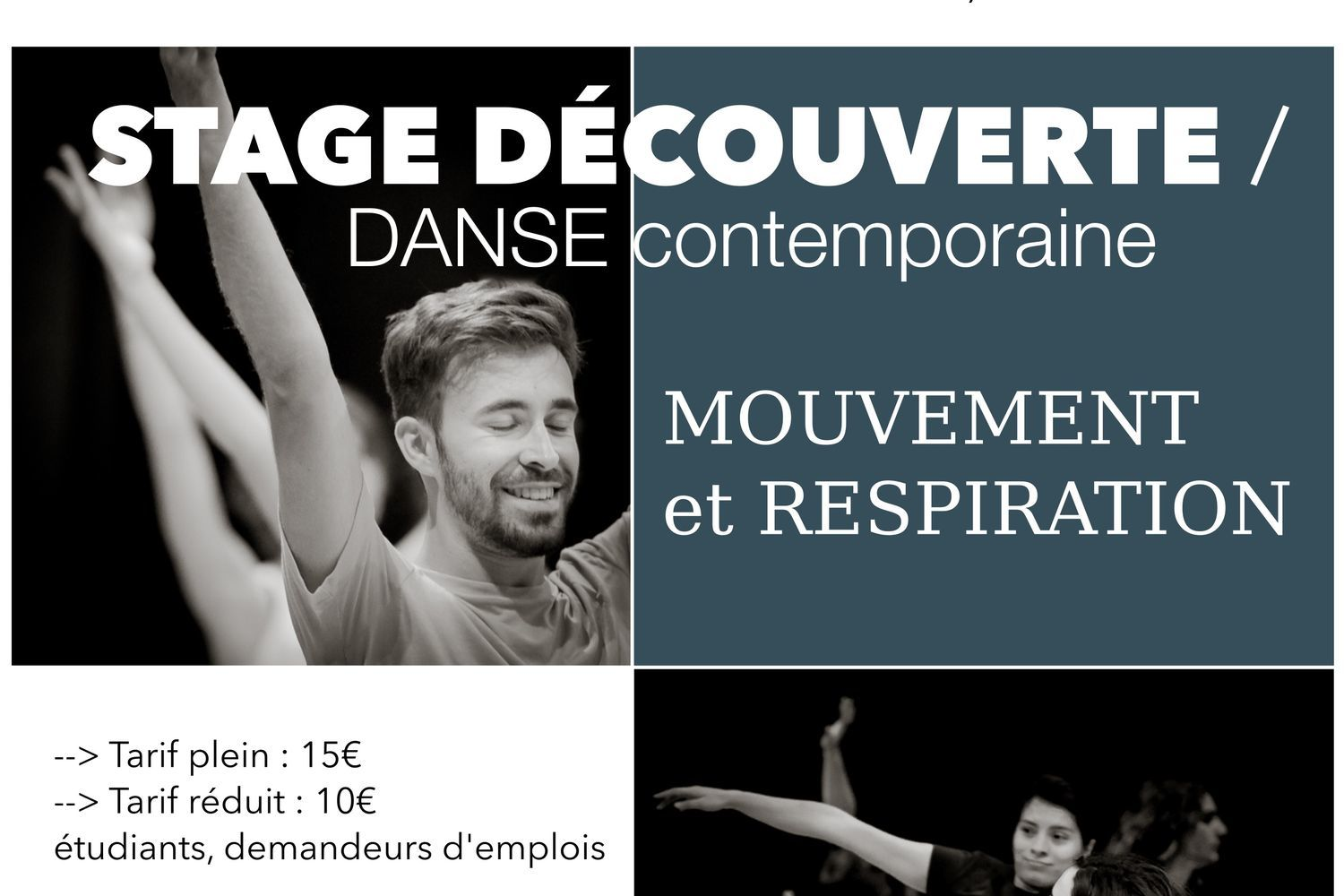 Stage découverte en danse contemporaine