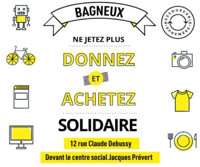 LA RECYCLERIE ÉPHÉMÈRE REVIENT A BAGNEUX !