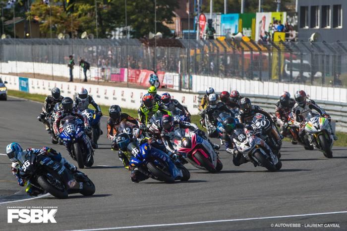 Course de moto au circuit d'Albi