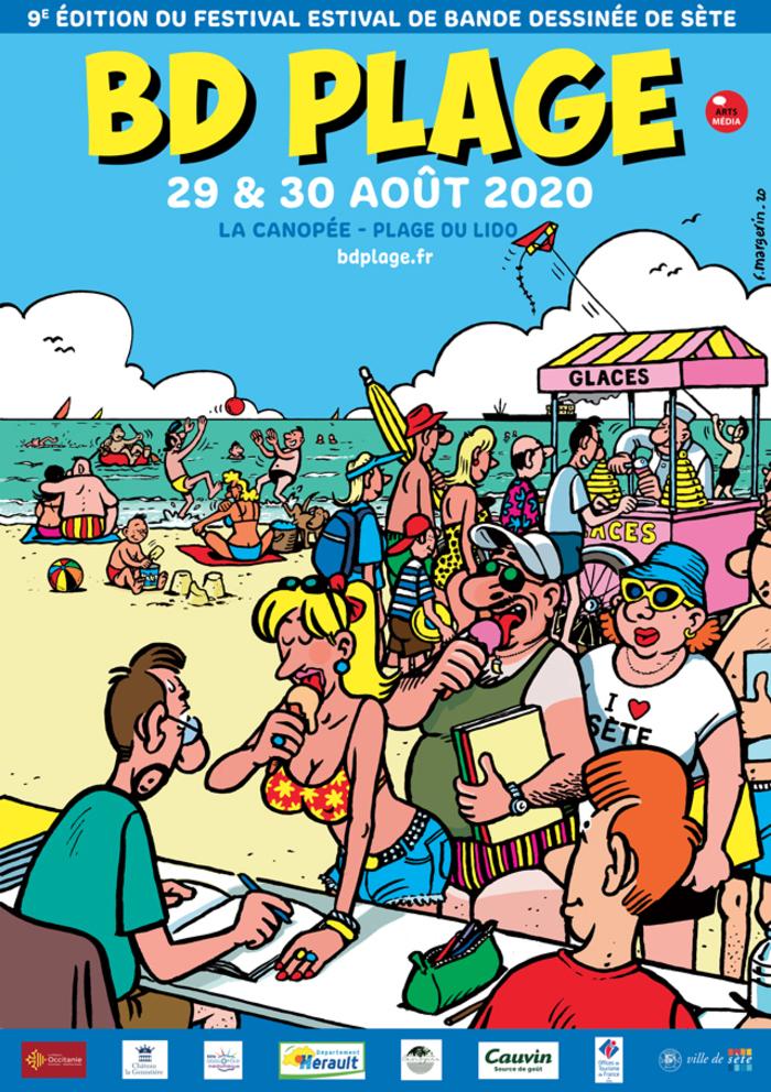 9e édition du Festival BD Plage à Sète à La Canopée, Plage du Lido