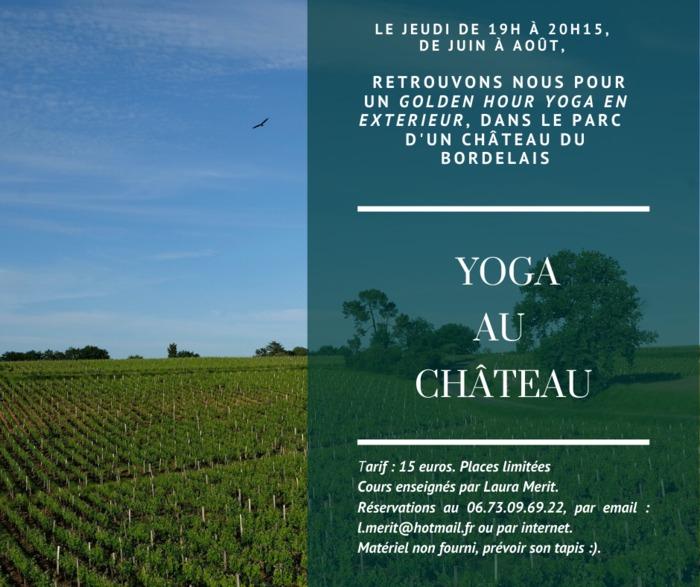 Yoga au Château de La Dauphine