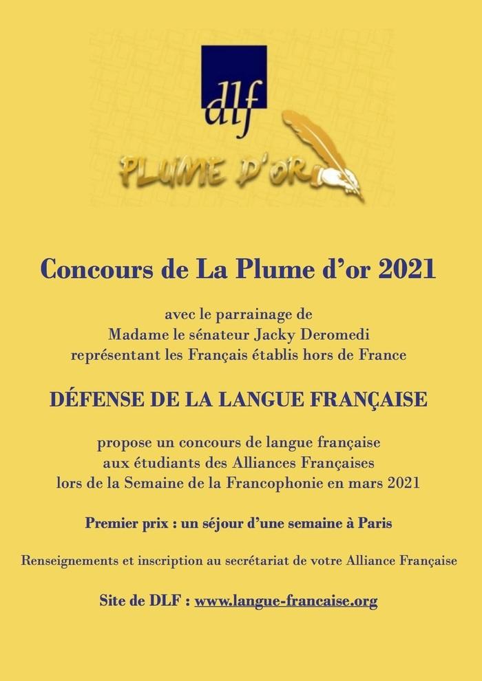 Concours de langue française, La Plume d'Or 2021