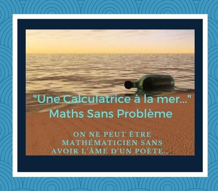 """Faire des maths tout en fêtant la Francophone ! C'est possible...grâce à """"une calculatrice à la mer"""""""