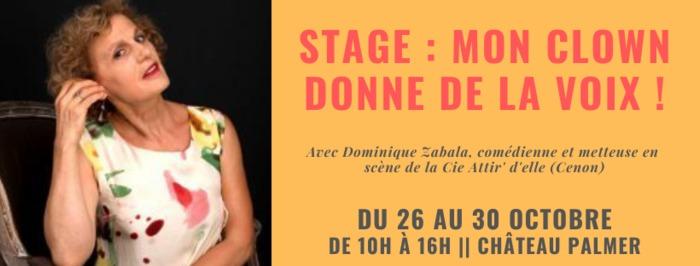 Stage de théâtre : Mon clown donne de la voix !