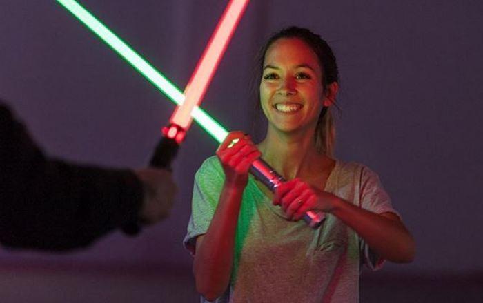Journées du patrimoine 2019 - Démonstration en nocturne de combat au sabre laser