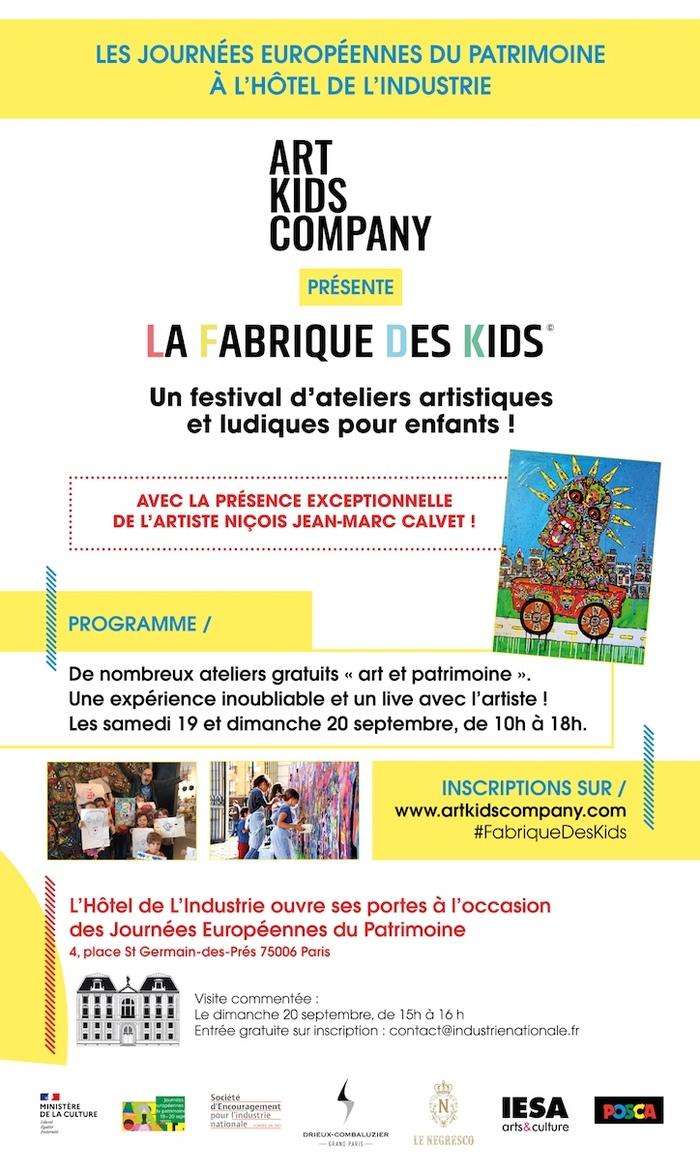 Journées du patrimoine 2020 - La Fabrique des Kids :  un festival d'ateliers artistiques et ludiques organisé par Art Kids Company