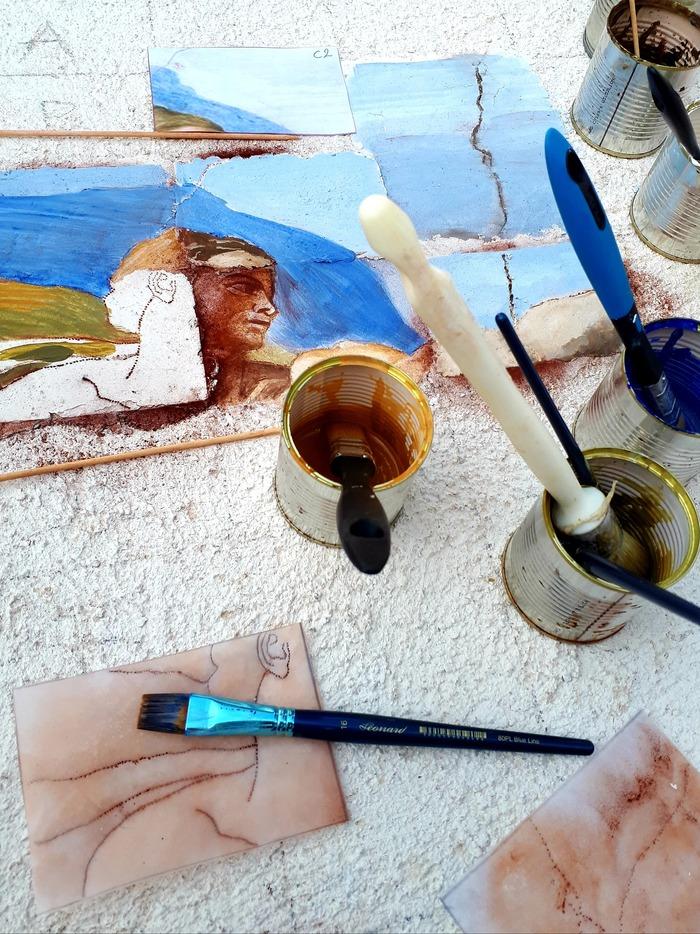 Journées du patrimoine 2019 - Réalisation collective d'une fresque