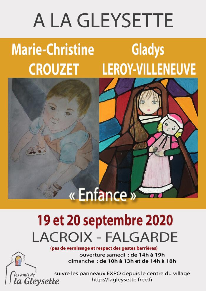 Exposition Marie Christine Crouzet et Gladys Leroy Villeneuve