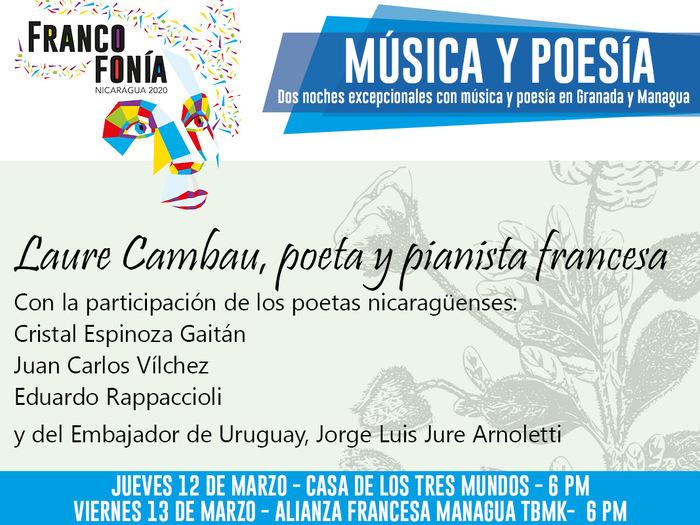 Deux nuits exceptionnelles à Grenade et Managua autour de la musique et de la poésie