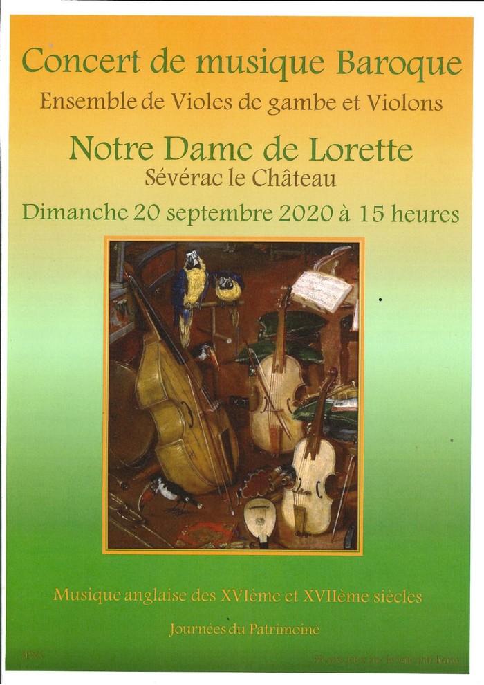 Journées du patrimoine 2020 - Concert de musique baroque