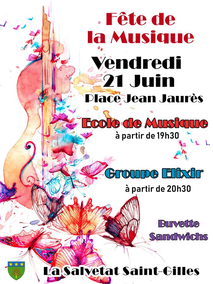 Fête de la musique 2019 - Ecole de musique / Orchestre Elixir