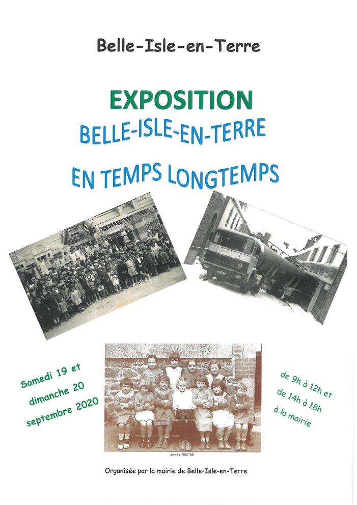 Journées du patrimoine 2020 - Exposition Belle-Isle-en-Terre en temps longtemps