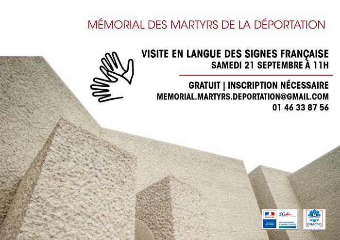 Journées du patrimoine 2019 - Visite en langue des signes française du mémorial des martyrs de la Déportation
