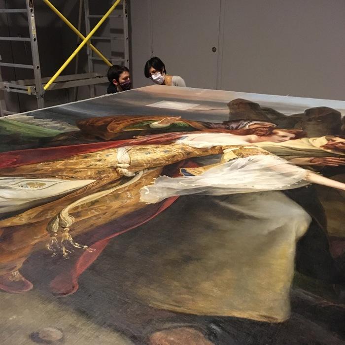 Visite guidée du chantier de restauration du tableau d'Horace Vernet