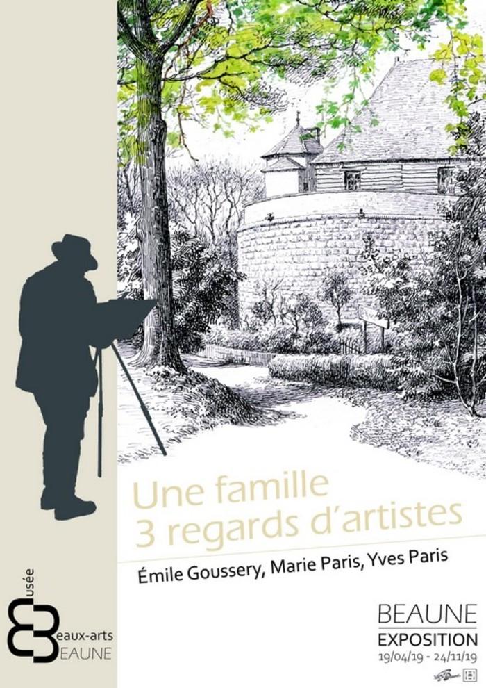 Journées du patrimoine 2019 - Exposition Une famille, 3 regards d'artistes : Émile Goussery, Marie Paris, Yves Paris
