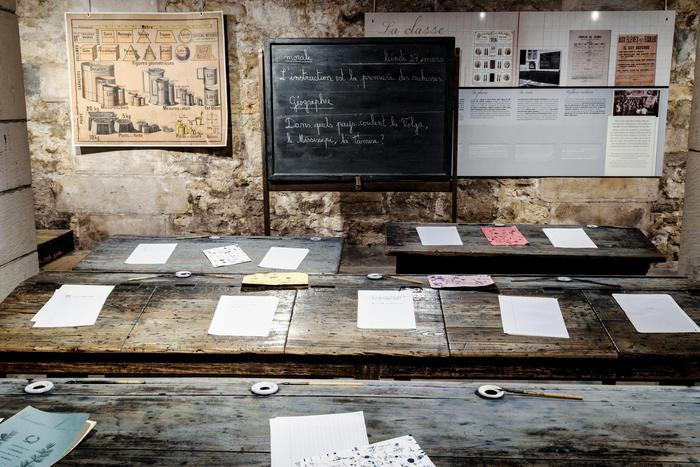 Journées du patrimoine 2020 - Dictée dans la salle de classe d'autrefois