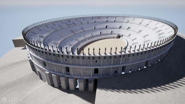 Journées du patrimoine 2020 - Visite virtuelle de l'amphithéâtre gallo-romain de Saintes au temps de sa splendeur au gré de 3 vues immersives de l'édifice