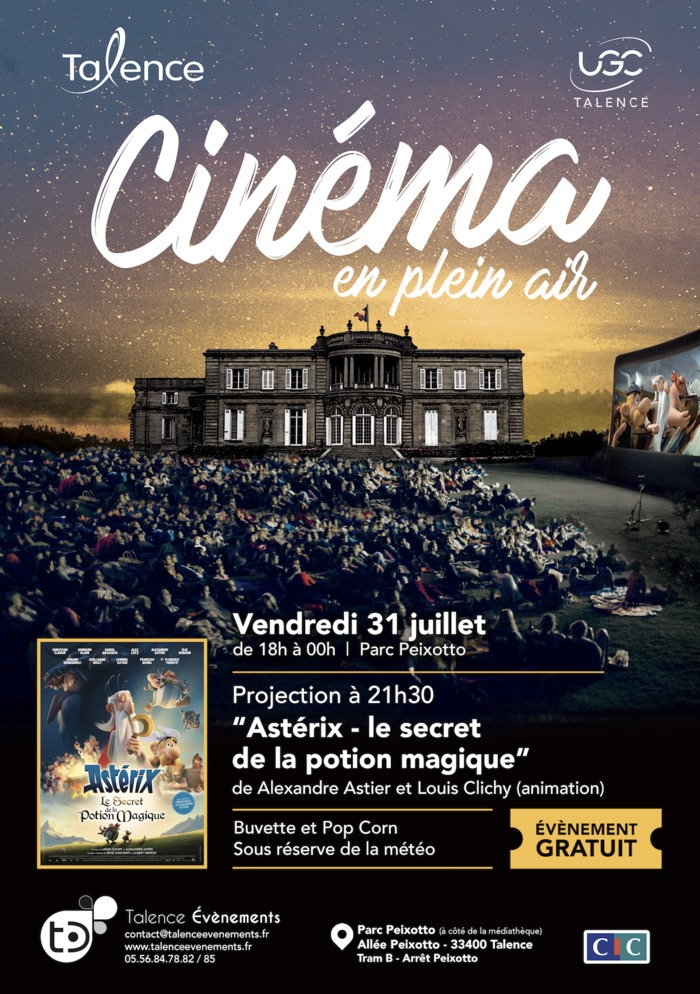 Cinéma en plein air «Astérix – le secret de la potion magique»