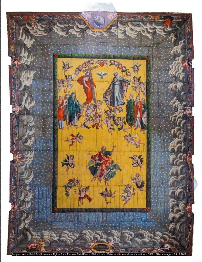 Journées du patrimoine 2020 - Découverte d'un petit joyau du patrimoine religieux : le plafond peint «Le Ravissement de saint Paul»