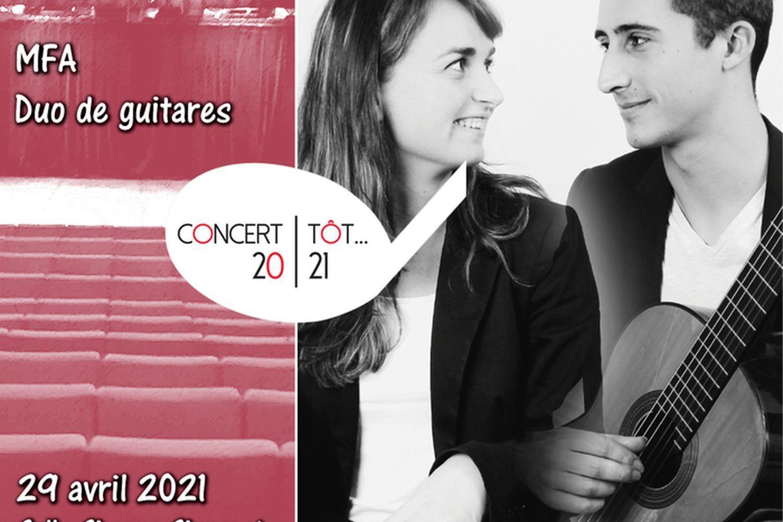 Annulé | Concert tôt… MFA-duo guitares
