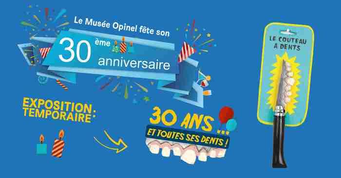 Journées du patrimoine 2019 - Exposition anniversaire « 30 ans et toutes ses dents »