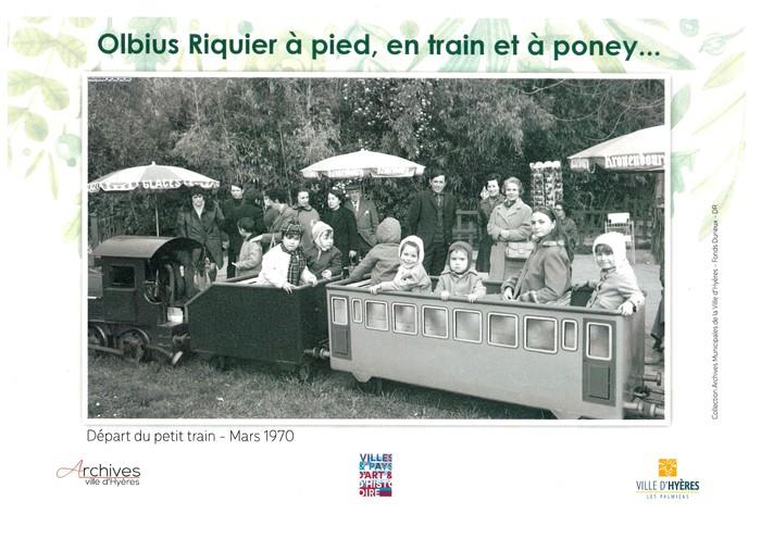 Journées du patrimoine 2019 - Olbius Riquier à pied, en train et à poney...