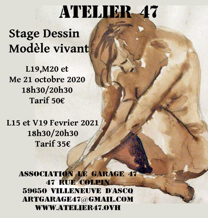 Stage Dessin Modèle vivant à l'Atelier 47