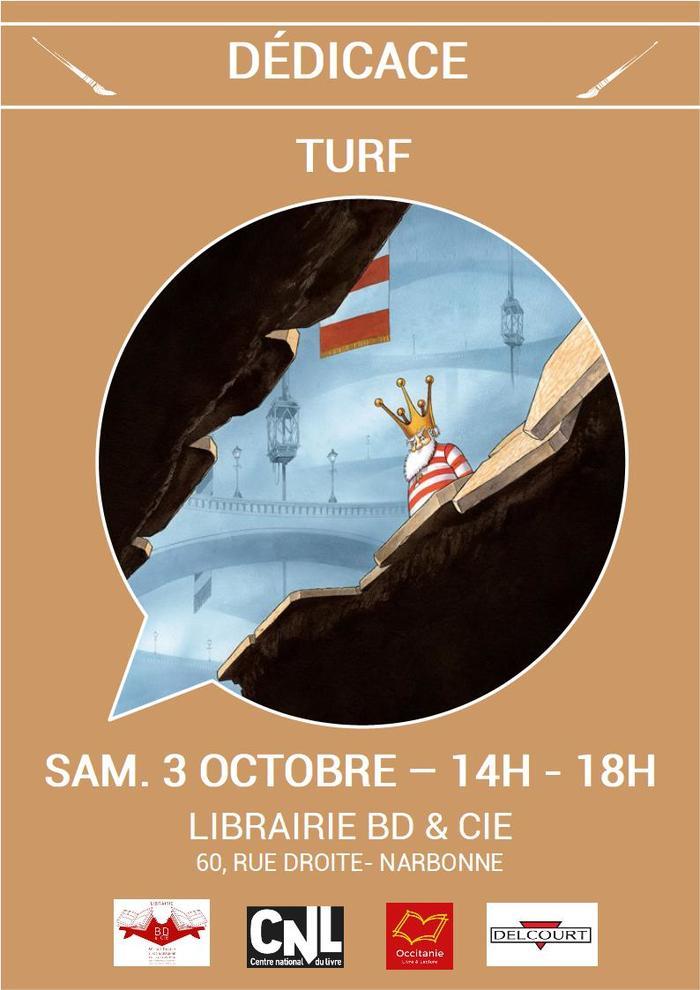 Dédicace de TURF pour La Nef des Fous aux éditions Delcourt