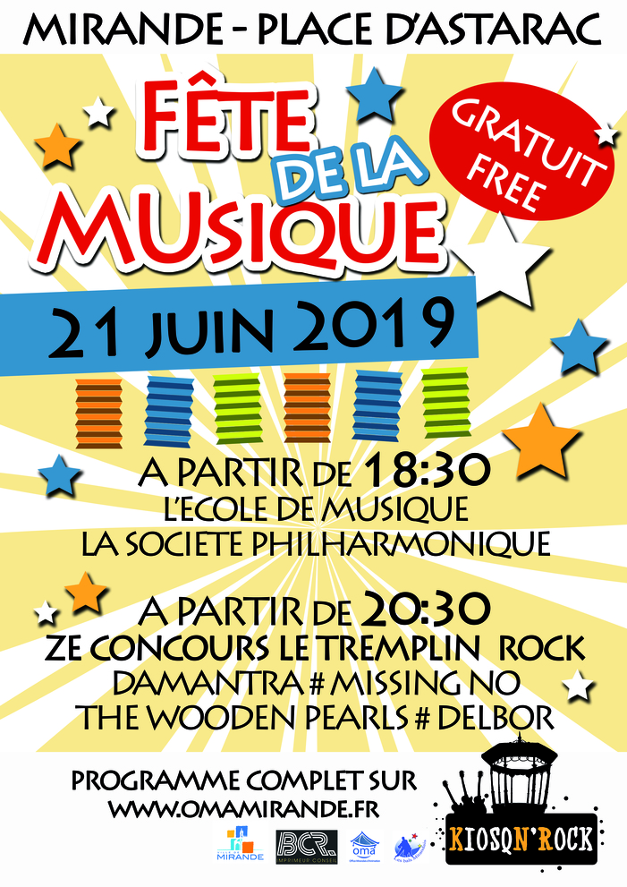 Fête de la musique 2019 - Plateau de l'école de Musique suivi de ZECONCOURS le tremplin rock 2019